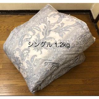 羽毛布団 日本製 ニューゴールド シングル 150×210  1.2kg ブルー(布団)