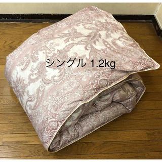 羽毛布団 日本製 ニューゴールド シングル 150×210  1.2kg ピンク(布団)