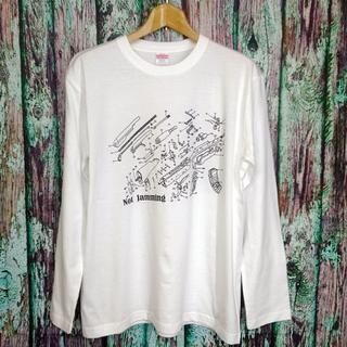 長袖【Not jamming】★AK47/カラシニコフ★ホワイト★M~XL(Tシャツ/カットソー(七分/長袖))