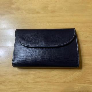 ホワイトハウスコックス(WHITEHOUSE COX)のホワイトハウスコックス 三つ折財布カラー  ネイビー×グリーン ホリデーライン(折り財布)