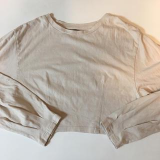 Kastane - シンプル Tシャツ 長袖 クリーム