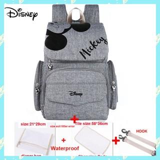 Disney - Disney マザーズバッグ/マザーズリュック/ミッキー/グレー