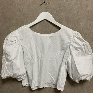 ZARA - ホワイトパフスリーブシャツ♡
