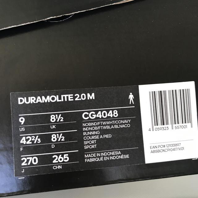 adidas(アディダス)の27cm adidas アディダス デュラモライト2.0 ランニングシューズ メンズの靴/シューズ(スニーカー)の商品写真