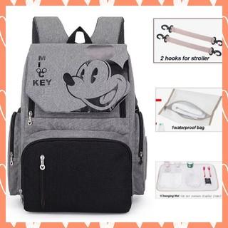 Disney - Disney マザーズバッグ/マザーズリュック/グレー×ブラック/ミッキー