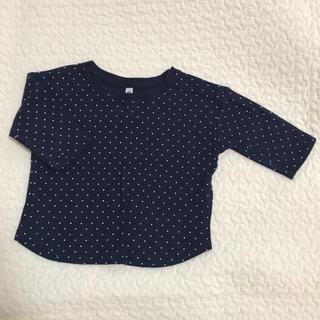 ムジルシリョウヒン(MUJI (無印良品))の無印良品七分丈Tシャツ サイズ80(Tシャツ)