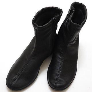 アルコペディコ(ARCOPEDICO)の【新品】 アルコペディコ ショートブーツ 36(23.5) プレーンブラック (ブーツ)
