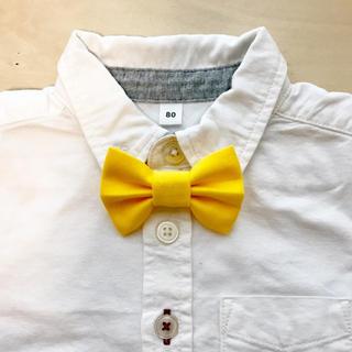 蝶ネクタイ 黄色(ファッション雑貨)