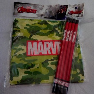 MARVEL - MARVEL 巾着  鉛筆