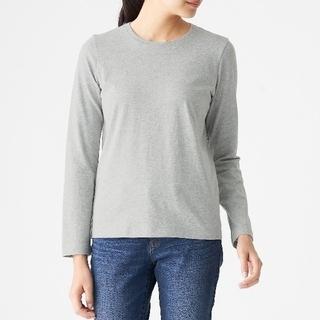 MUJI (無印良品) - 美品 無印良品✨MUJI 落ち綿 長袖Tシャツ コットン キュプラ サイズS