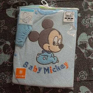 Disney - ミッキー 新生児 長袖 コンビドレス プレオール カバーオール