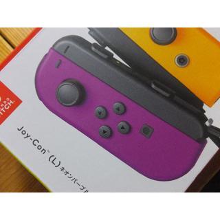 Nintendo Switch - 新型? Joy-Con (L)ネオンパープル  Joy-conストラップ黒 左