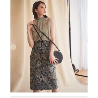 ココディール(COCO DEAL)のココディール  フラワージャガードスカート(ひざ丈スカート)