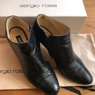 セルジオロッシ(Sergio Rossi)のセルジオロッシ☆ブーティ☆ブラック☆36☆7cm(ブーティ)