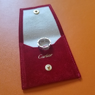 カルティエ(Cartier)のCartier♢9号タンクフランセーズハーフダイヤK18WG(リング(指輪))
