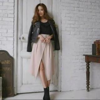 リエンダ(rienda)のrienda*ラップミディH/W スカート(ひざ丈スカート)