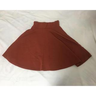 オレンジ スカート(ミニスカート)