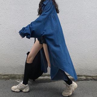 ザラ(ZARA)のデニム オーバーサイズシャツ(シャツ/ブラウス(長袖/七分))