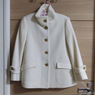 ムジルシリョウヒン(MUJI (無印良品))の無印☆ウールコート☆白☆未使用(テーラードジャケット)