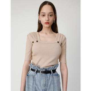 moussy - moussy SHOULDER TUCK RIB TOP
