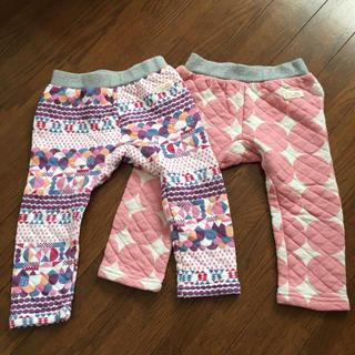 しまむら - キルト パンツ 2枚セット90 女の子 しまむら