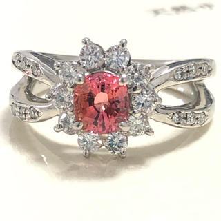 パパラチア pt900 プラチナ パパラチアサファイア ダイヤモンド