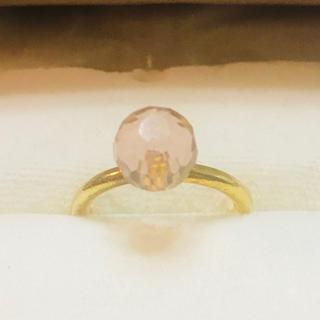 ブルーム(BLOOM)のBLOOM ピンク天然石 ボンボンリング(リング(指輪))
