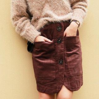 トゥデイフル(TODAYFUL)のハイウエストコーデュロイスカート(ひざ丈スカート)