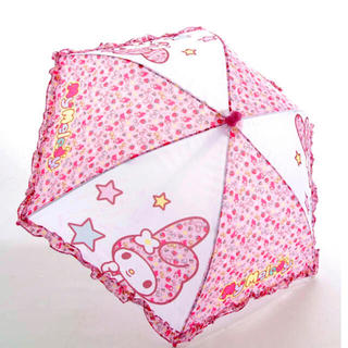 サンリオ(サンリオ)の即購入大歓迎! 新品タグ付き サンリオ マイメロ 可愛い フリル 傘 43cm(傘)