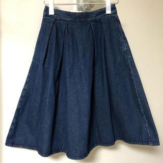 ジーユー(GU)の専用  GU  デニムフレアスカート (ひざ丈スカート)