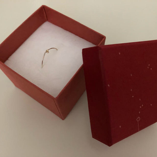 mocco 細々10k粒つき指飾り(リング(指輪))