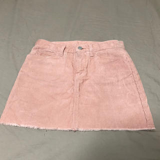 ビームス(BEAMS)のBEAMS コーデュロイスカート ピンク(ミニスカート)