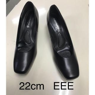 レディース革パンプス22cm   EEE(ハイヒール/パンプス)