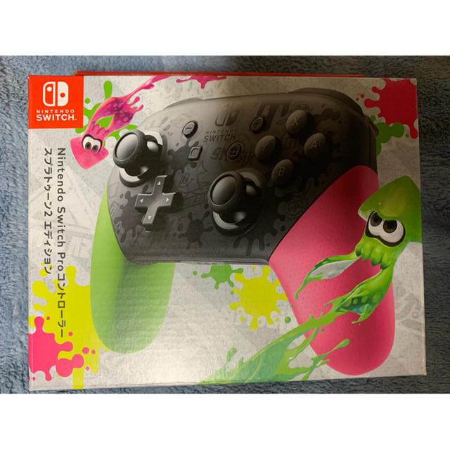 Nintendo Switch(ニンテンドースイッチ)のNintendo Switch Proコントローラー スプラトゥーン2エディショ エンタメ/ホビーのゲームソフト/ゲーム機本体(その他)の商品写真