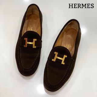 エルメス(Hermes)の1192 HERMES ローファー フラットシューズ(ローファー/革靴)
