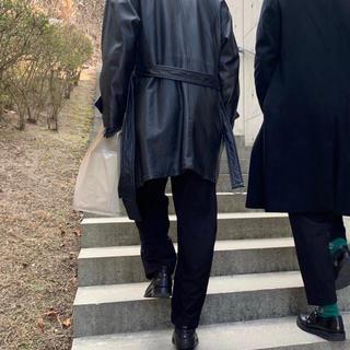 バレンシアガ(Balenciaga)のバレンシアガ コート レザー(レザージャケット)