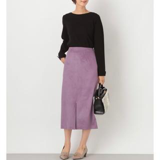 レプシィム(LEPSIM)のスウェードタイトスカート 849619(ひざ丈スカート)