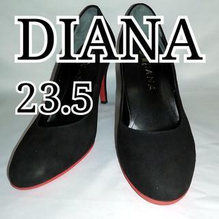 DIANA - 良品 ダイアナ パンプス 23.5cm スエード ブラック