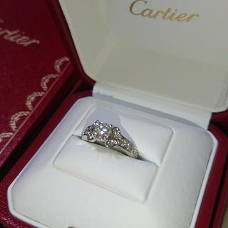 Cartier - F・IF・3EX!カルティエ  バレリーナ  パヴェ ダイヤリング 0.59CT