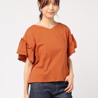ウィゴー(WEGO)のWEGO ウィゴー 2wayドルマンフリルT ダークオレンジ(Tシャツ(半袖/袖なし))