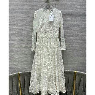 クリスチャンディオール(Christian Dior)のDior ディオール ワンピース 綺麗 ホワイト(ひざ丈ワンピース)