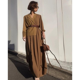 Ameri VINTAGE - AMERI TRINITY JKT DRESS   マスタード