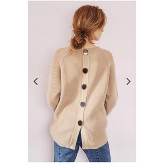 ALEXIA STAM - Back Slit Chenille Yarn Knit Top Camel