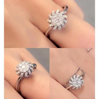 ❤️送料込み☆新品豪華0.61ctキラキラダイヤモンドK18WGリング