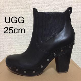 UGG - ☆極美品☆レア☆アグ UGG サイドゴア ショートブーツ 黒 25cm ブーティ