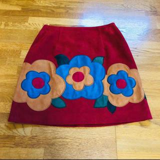 Lily Brown - Lilybrown 台形 花柄 ミニスカート