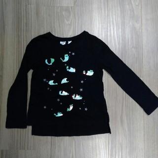 ギャップ(GAP)のGAP 着用2回スパンコール付長袖Tシャツ 110㎝(Tシャツ/カットソー)