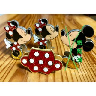 Disney - ミッキー ミニー ミッキーグローブ 写真立て スタンドクリップ
