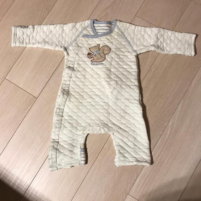 Combi mini(コンビミニ)のcombi mini キルト地カバーオール キッズ/ベビー/マタニティのベビー服(~85cm)(カバーオール)の商品写真