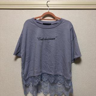 ヘザー(heather)のヘザー レースTシャツ(Tシャツ(半袖/袖なし))